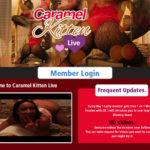 Caramel Kitten Live Strapon