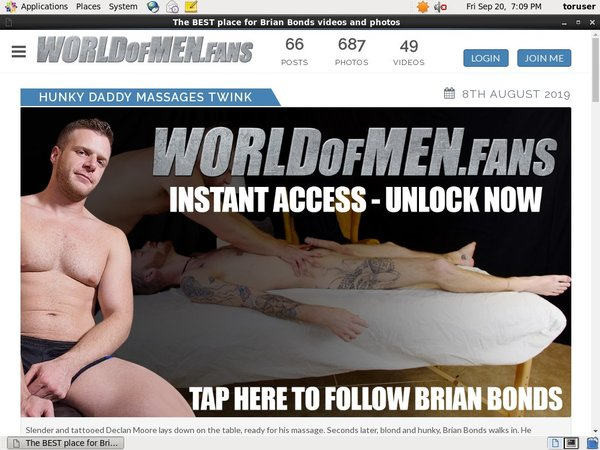 World Of Men Fans - Brian Bonds Passworter