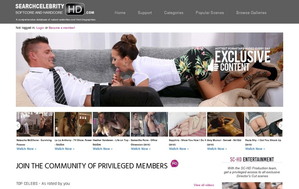 Search Celebrity HD Membership Account