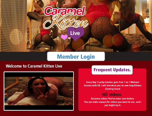 How To Get Into Caramel Kitten Live