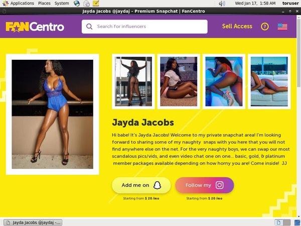 Free Jayda Jacobs Account
