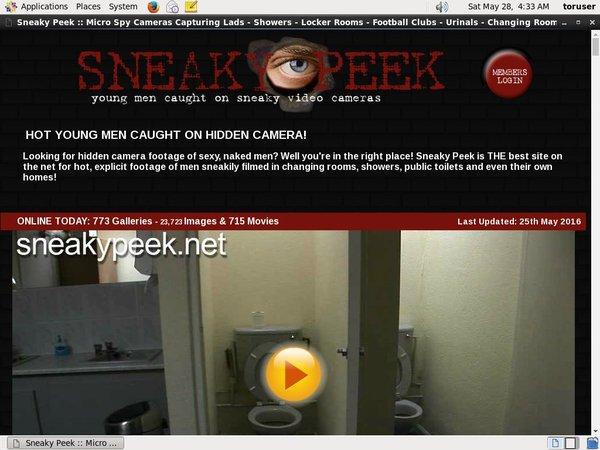 Sneaky Peek Get Password